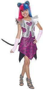 Girls Catty Noir Costume Monster High 13 Wishes Cat Fancy Dress Kids S M L Child