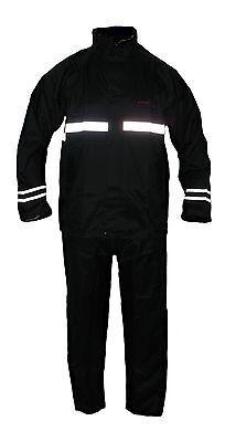 Regenkombi Motorrad und Freizeit Regenanzug RK-RS01 schwarz 2-teilig Größe S-4XL