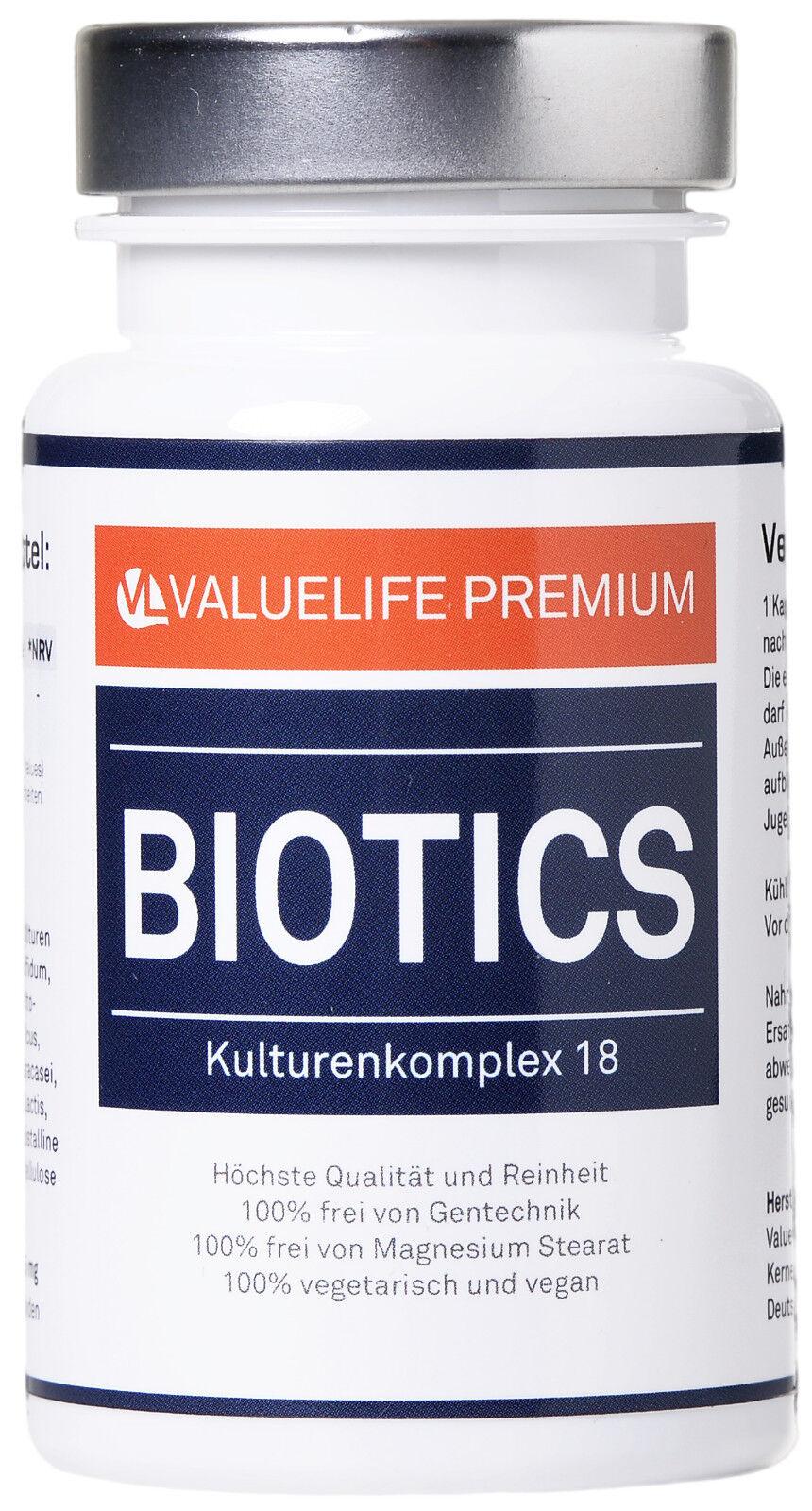 Biotics Kulturenkomplex 18 – Probiotika Darmflora Kapseln von VALUELIFE