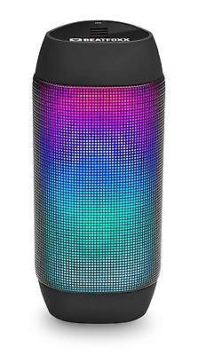 Mobiler LED Disco Party Bluetooth Lautsprecher Radio Box USB SD AUX MP3 Player