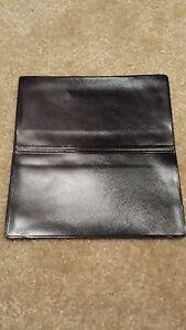 Black Vinyl Checkbook Holder Duplicate Flap Cover Top Tear Check Register  eBay