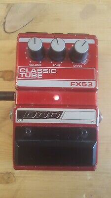 Dod FX53 Classic Tube Overdrive Effect pedal with box and PSU Made in USA Rare!