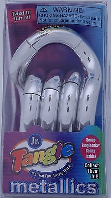 Tangle Jr Metallic Fidget Sensory Toy Silver Autism SPED Aspergers ADD Classroom