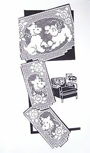 FILET CROCHET CHAIR SET PATTERNS