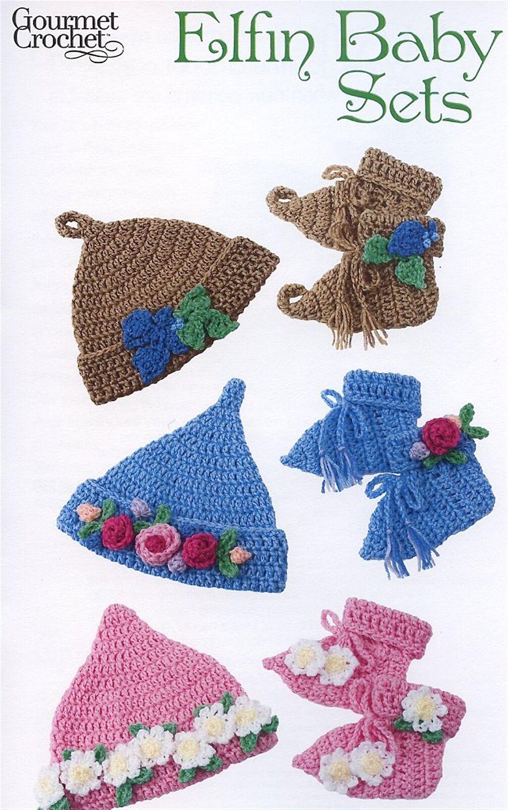 Preemie Booties : preemie, booties, Elfin, Booties, Preemie-6, Gourmet, Crochet, Pattern, Leaflet