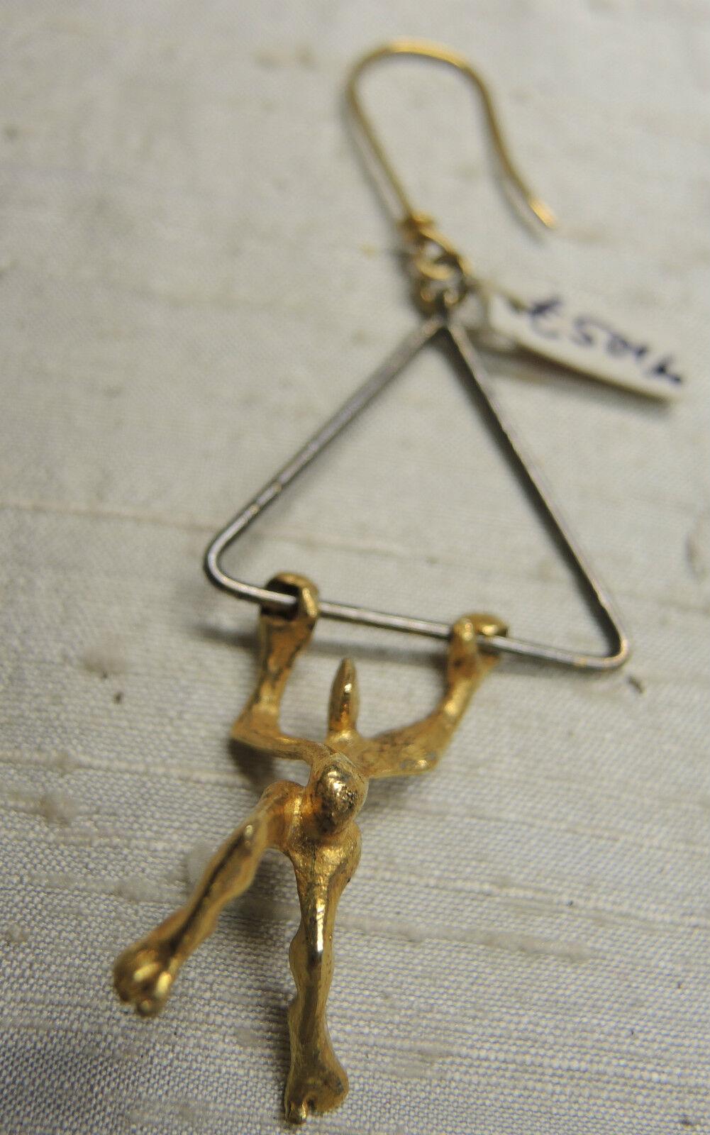Ohrschmuck Ohrhänger Ohrstecker  Gold Silber Goldschmied Triangel Musik Triangel