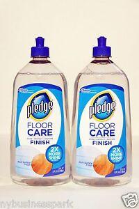 2 Pledge Floor Care MultiSurface Finish Shine Protect