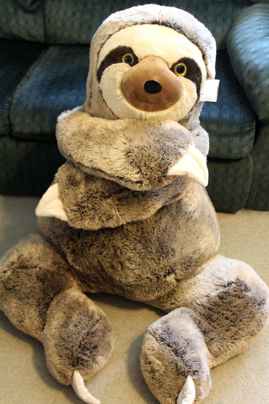 jumbo sloth plush 4 feet tall x large stuffed animal huge big giant xl buddy new