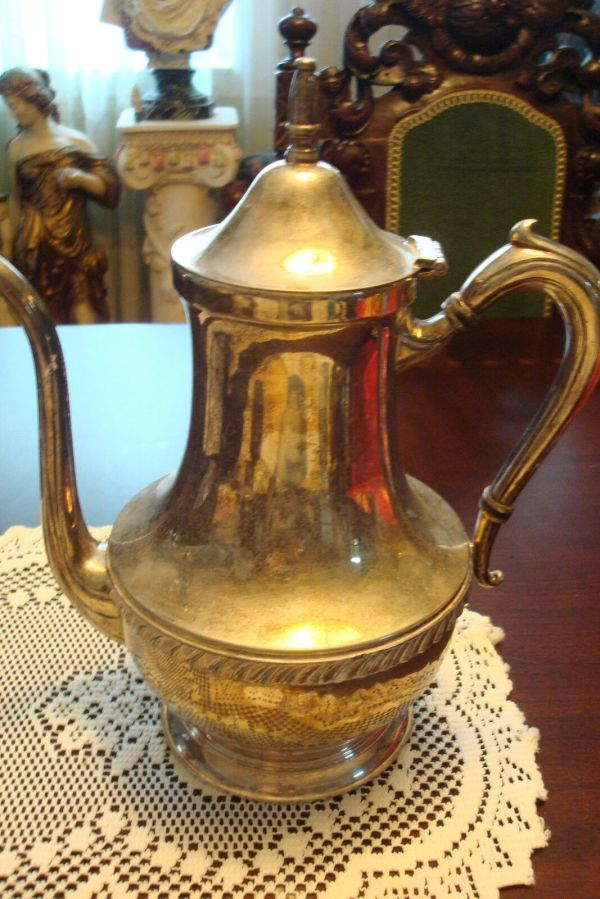 Sheets Rockford . Silverplate Hollowware Teapot Coffee