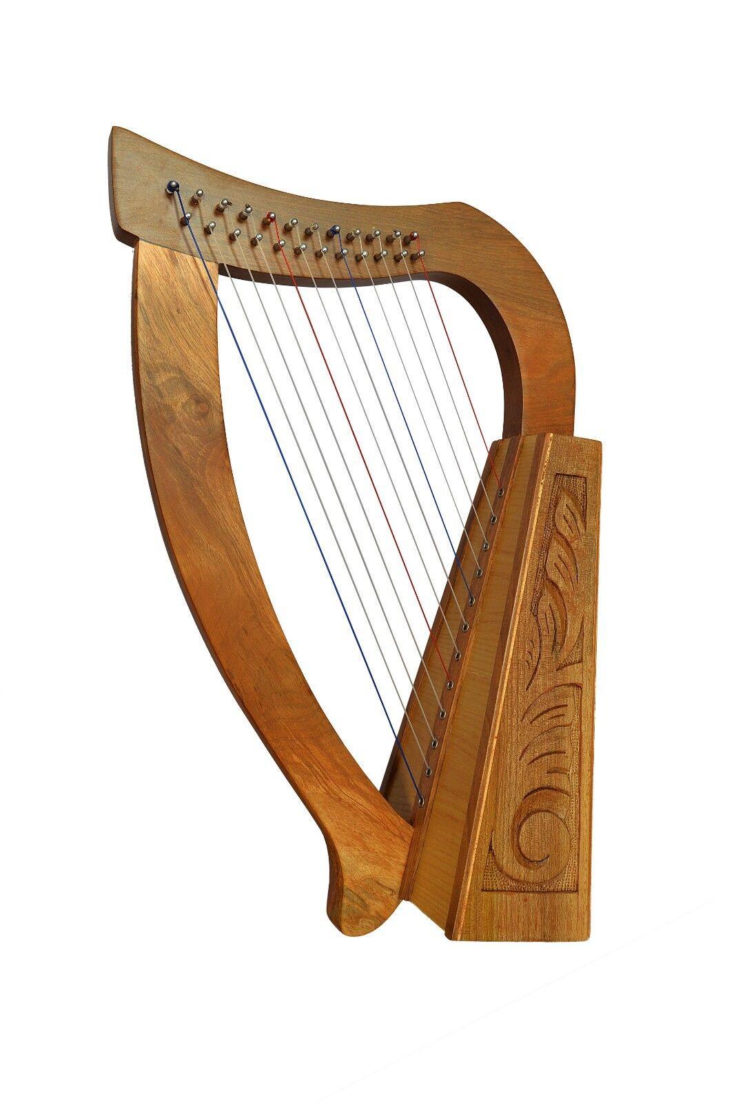 12 Saiten Trinity Walnuss Harfe, 12 Strings Celtic Irish Harp,  Irish lever Harp