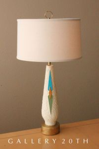 MID CENTURY MODERN ABSTRACT TABLE LAMP! Eames 50's Vtg ...