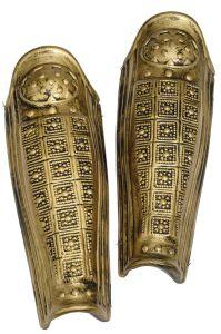 Leg Armor Pair 2 Pieces Gold New Spartan Armor Roman Armor Greek Armor 22000