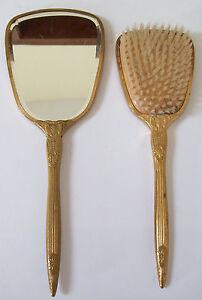 vintage hair brush set