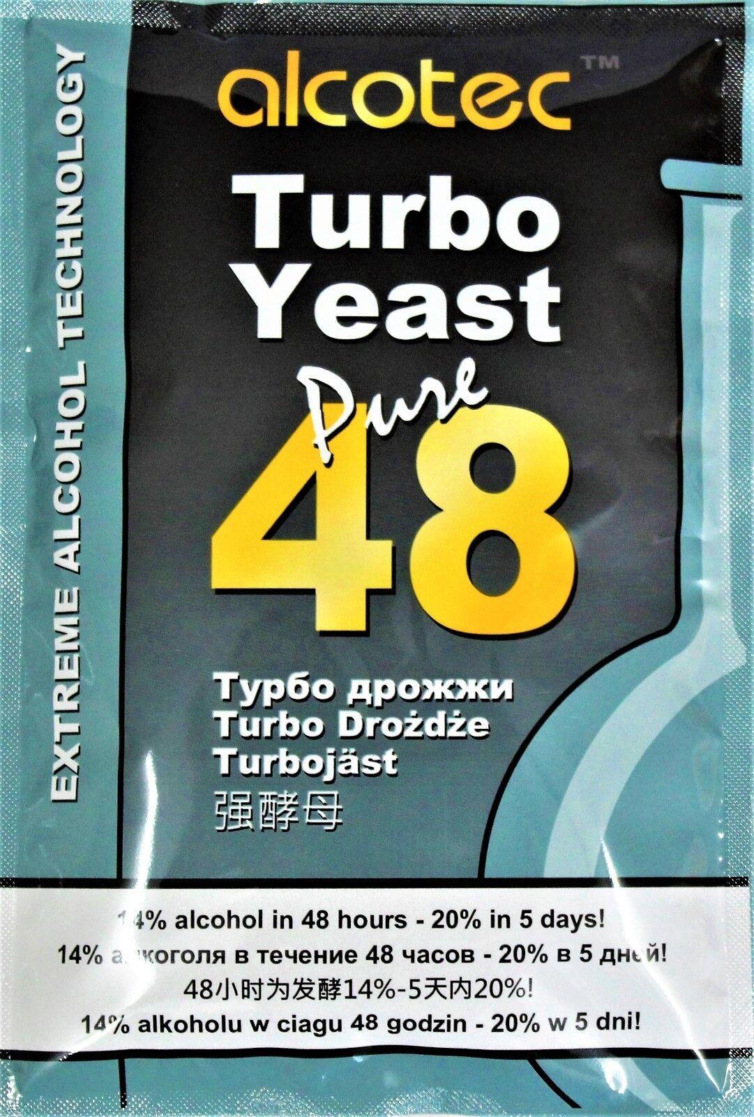 Turbohefe Alcotec Pure 48 Vodka Alkohol Gärhefe Hefe Schnaps Brennhefe 14% 20%