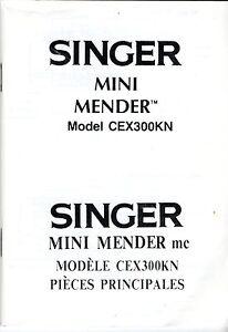 Singer Mini Mender Model CEX300KN Hand Sewing Machine