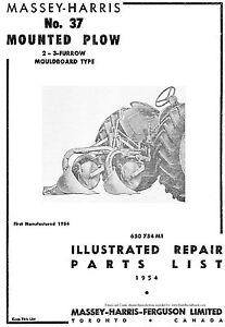 Massey-Harris-No-37-Mounted-Moldboard-Plow-Parts-manual