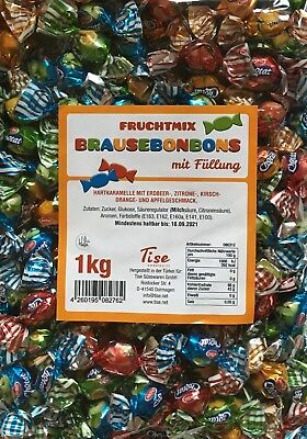 (1000g=8,32€) Mini Brause Bonbons Frucht Karneval Fasching Wurfmaterial Giveaway