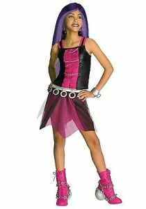Girls Spectra Vondergeist Costume Monster High Halloween Fancy Dress Kids Child