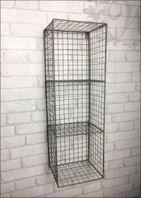 Retro Vintage Industrial Style Metal Shelf Rack Storage ...