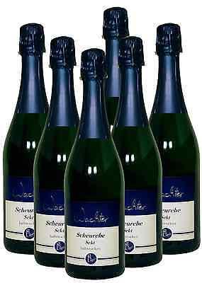 6 Fl. Scheurebe Sekt halbtrocken - Direkt vom Weingut Wachter -