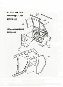 NEW-RIGHT-PASSENGER-SIDE-REAR-DOOR-SEAL-1999-2004-JEEP