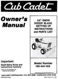 Cub-Cadet-54-inch-Dozer-Blade-Dirt-Snow-Setting-Up-and