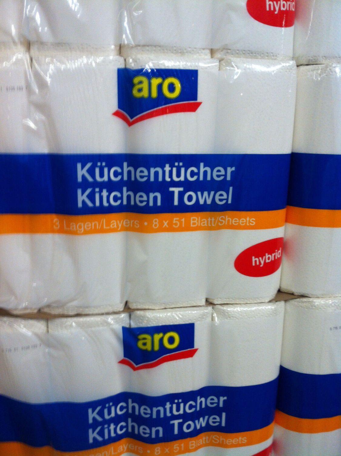40 Rollen Küchenpapier Küchenrollen hochweiß 3-lagig 51 Blatt Premium
