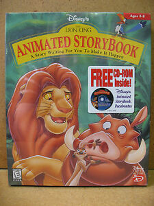Disney S The Lion King Animated Storybook Pc Mac Cd Rom