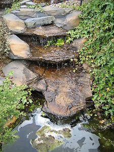 pre-formed waterfall water feature