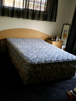 Double Bed With Storage Headboard Mattress