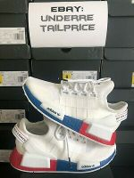 100% Authentic Adidas NMD R1 V2 White Lush Red 2020 FX4148 - BRAND NEW
