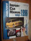 1992-1996 IMPORT SERVICE MANUAL SHOP BOOK BMW VW MERCEDES MAZDA RX7 NISSAN 380Z