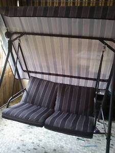 swing chair bunnings fishing chairs ebay outdoor shaded seat miscellaneous goods