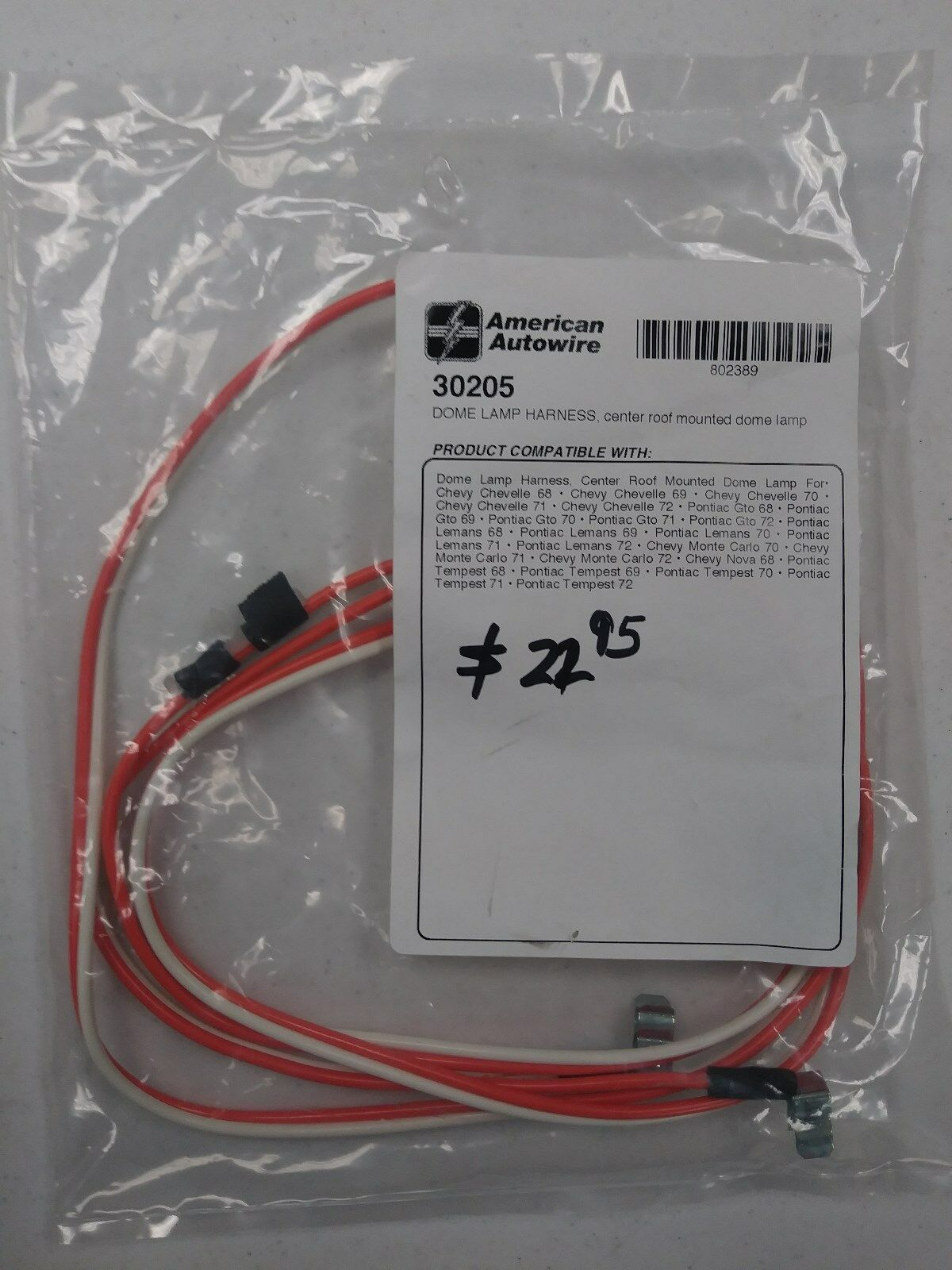 hight resolution of new gm dome light harness gto chevelle monte carlo