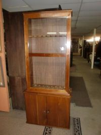 2 Piece Glass Door Gun Cabinet 8 Gun Holder Cabinet