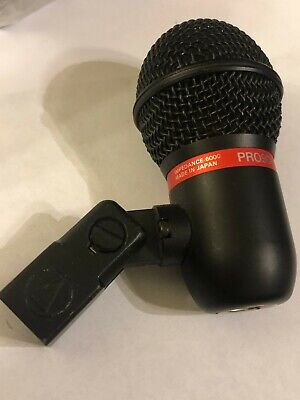 AUDIO-TECHNICA PRO9D HYPERCARDIOID DYNAMIC INSTRUMENT MICROPHONE +MIC STAND CLIP