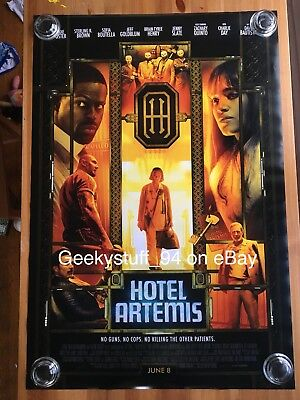 Hotel Artemis DS Theatrical Movie Poster 27x40
