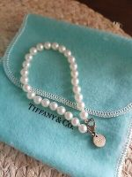 Tiffany & Co Freshwater Cultured Pearl Bracelet with Sterling Silver Clasp