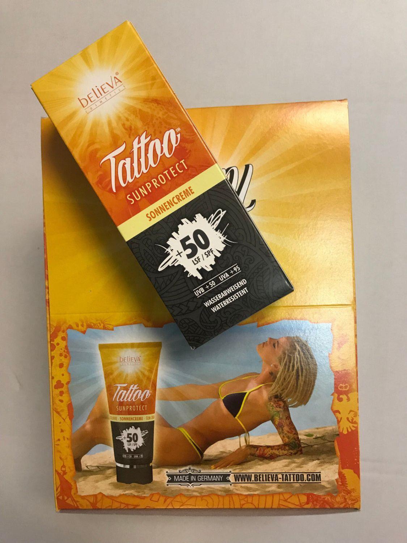 Tattoo Believa® Tattoo SunProtect *100 ml Tube* Sonnencreme LSF/ SPF 50