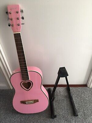 Music Alley Junior Classical Acoustic Guitar - Natural with a stand