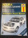 Haynes Repair Manual # 12021 Acura Integra & Legend 1991-1993