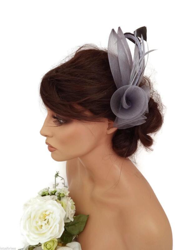 Silver Hair Fascinator EBay