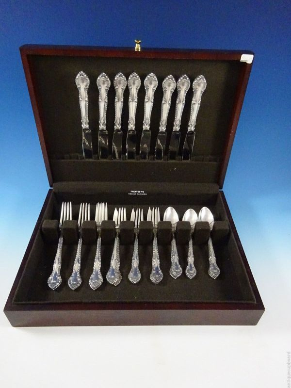 English Gadroon Gorham Sterling Silver Flatware Set