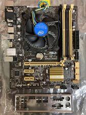 Asus B85M-G R2.0 Motherboard Combo w/ G3220@3.00GHz CPU. 4GB Ram. & i/o Shield | eBay