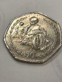 1997 Isle of Man Philip McCallen TT 50p coin - Circulatedgood condition
