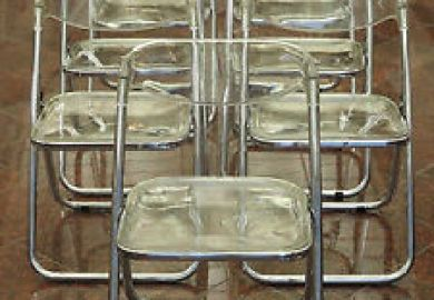 Lucite Z Chairs