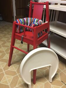 ikea high chair retro lounge buy or sell feeding chairs in toronto gta like new red blames with cushion
