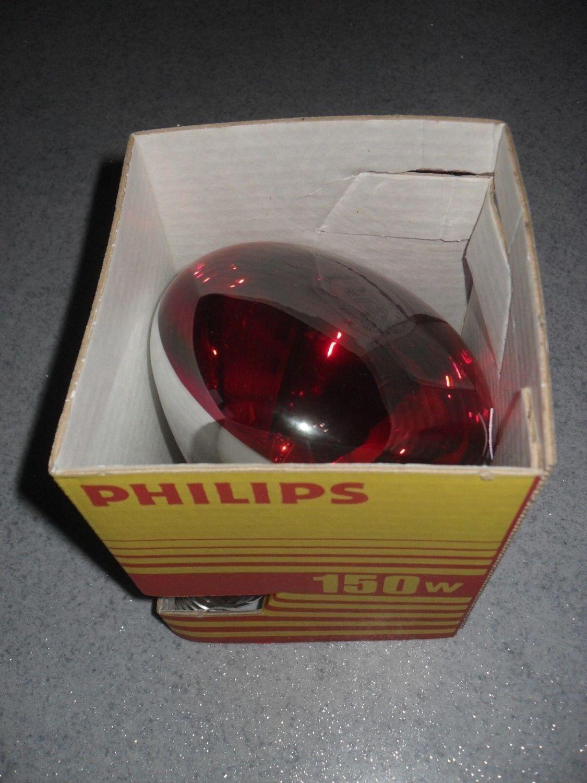 Philips Infrarot Heizstrahler Lampe, 150 W, Wärme Rotlichtlampe, IRR Glühbirne