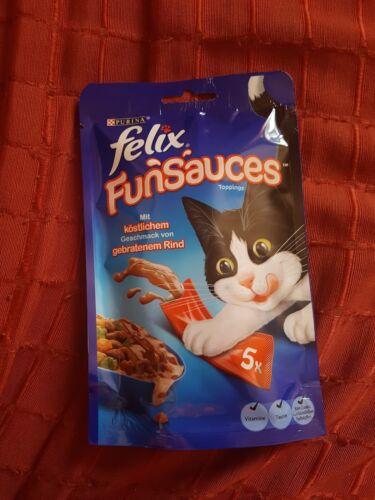 10x Felix Katzensnack FunSauces Roasted Beef Gebratenes Rind
