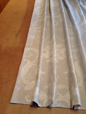 Extra Long Laura Ashley Josette Grey Pinch Pleat Curtains 3 Cols